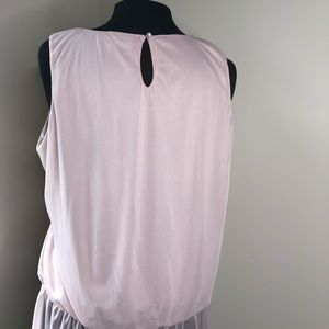 G. Collection Tops - G. Collection pink sleeveless sheer peplum blouse